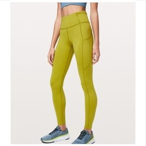 """NWT LULULEMON FAST and FREE 25"""" TIGHT GOLD sz 10"""